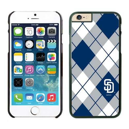 San Diego Padres iPhone 6 Cases Black