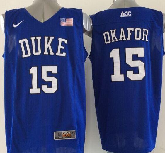 Duke Blue Devils 15 Okafor Blue College Jersey