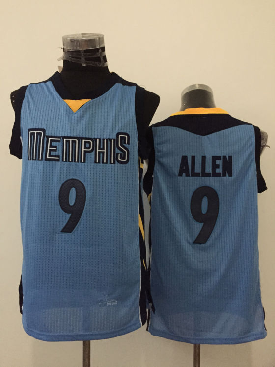 Grizzlies 9 Tony Allen Light Blue New Revolution 30 Jersey