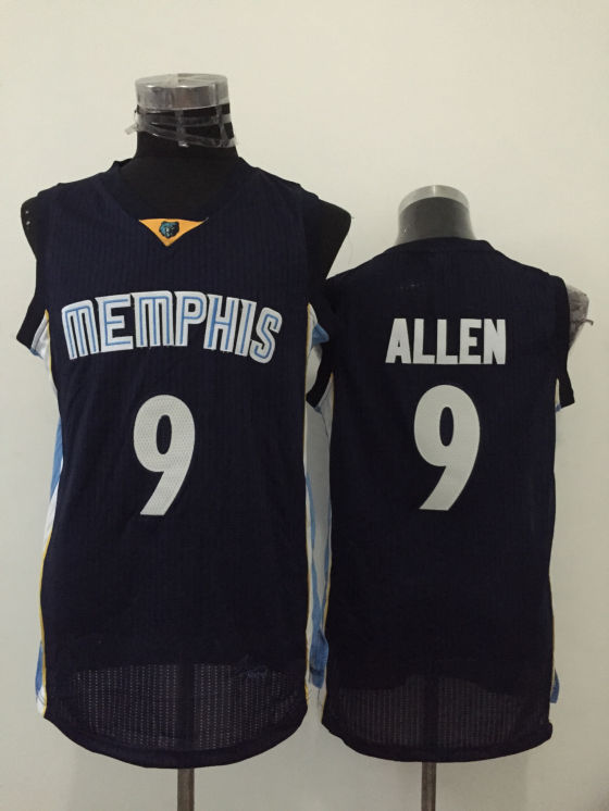 Grizzlies 9 Tony Allen Navy Blue New Revolution 30 Jersey