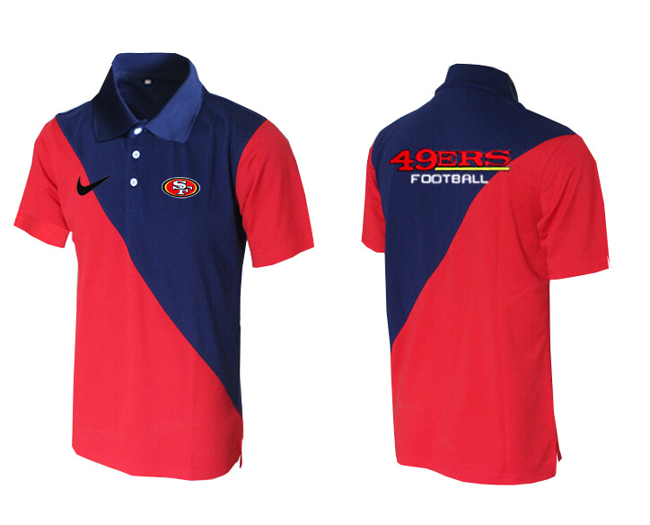 Nike 49ers Blue And Red Polo Shirt
