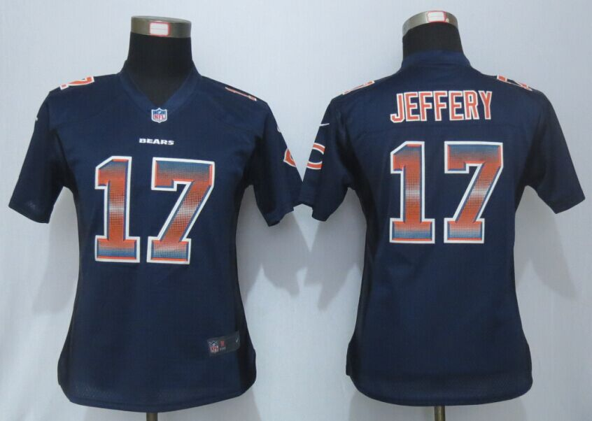 Nike Bears 17 Alshon Jeffery Blue Pro Line Fashion Strobe Women Jersey