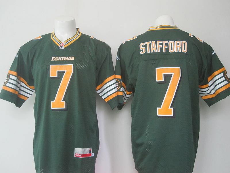 Reebok CFL Eskimos 7 Stafford Green Jersey