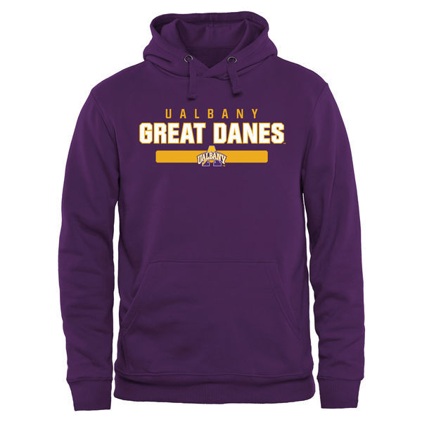 Albany Great Danes Team Logo Purple College Pullover Hoodie