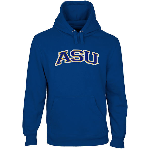 Albany State University Golden Rams Fresh Logo Blue College Pullover Hoodie (1)
