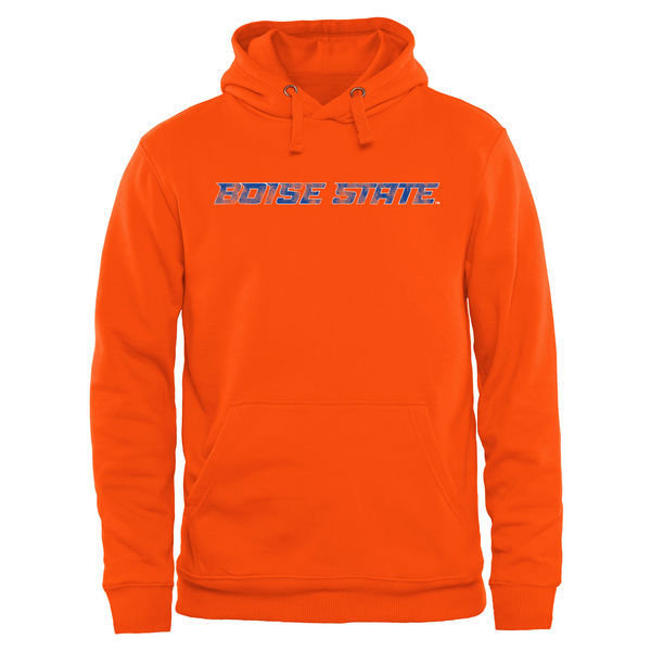 Boise State Broncos Team Logo Orange College Pullover Hoodie
