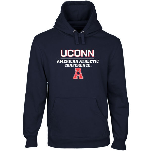 Connecticut Huskies American Athletic Conference Navy Blue College Pullover Hoodie