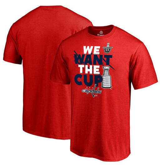 Washington Capitals Fanatics Branded 2017 NHL Stanley Cup Playoff Participant Blue Line Big & Tall T Shirt Red