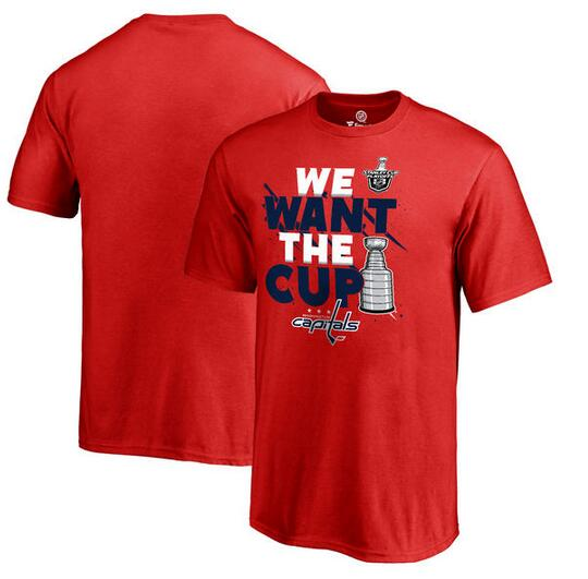 Washington Capitals Fanatics Branded 2017 NHL Stanley Cup Playoff Participant Blue Line T Shirt Red