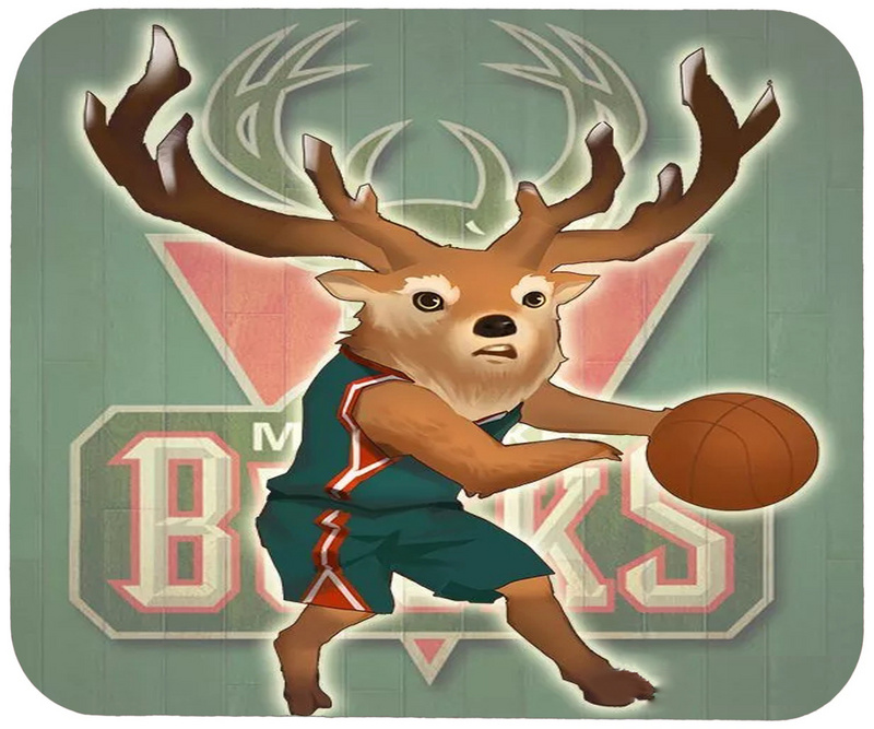 Bucks Cartoon Logo Gaming/Office Mouse Pad