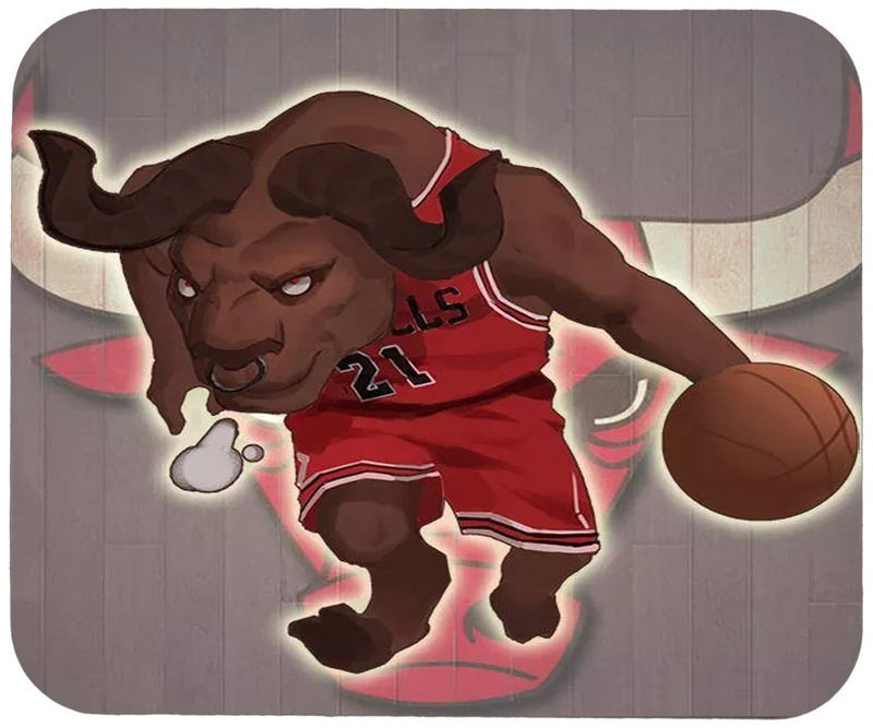 Bulls Cartoon Logo Gaming/Office Mouse Pad