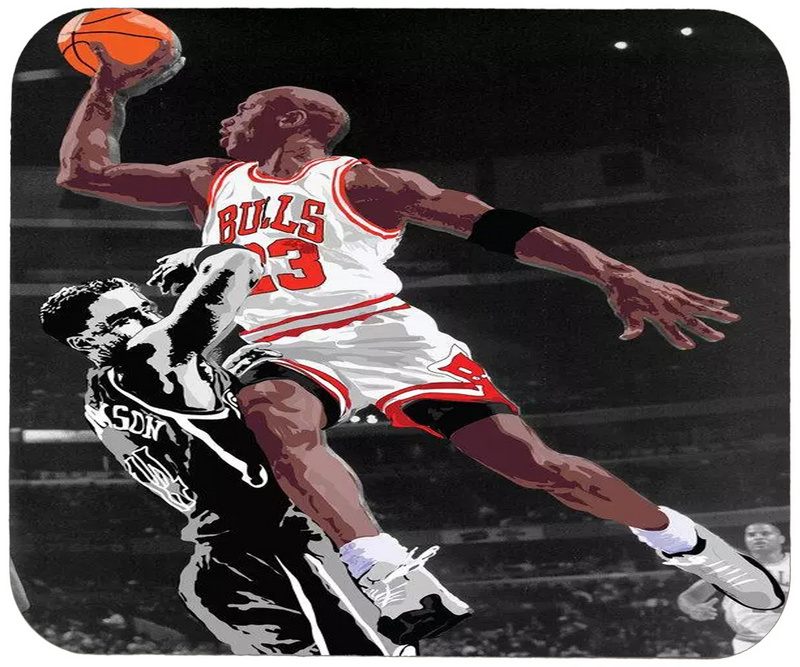 Bulls Michael Jordan Cartoon Logo Gaming/Office Mouse Pad