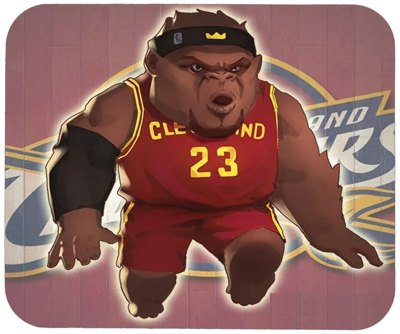 Cavaliers Lebron James Cartoon Logo Gaming/Office Mouse Pad