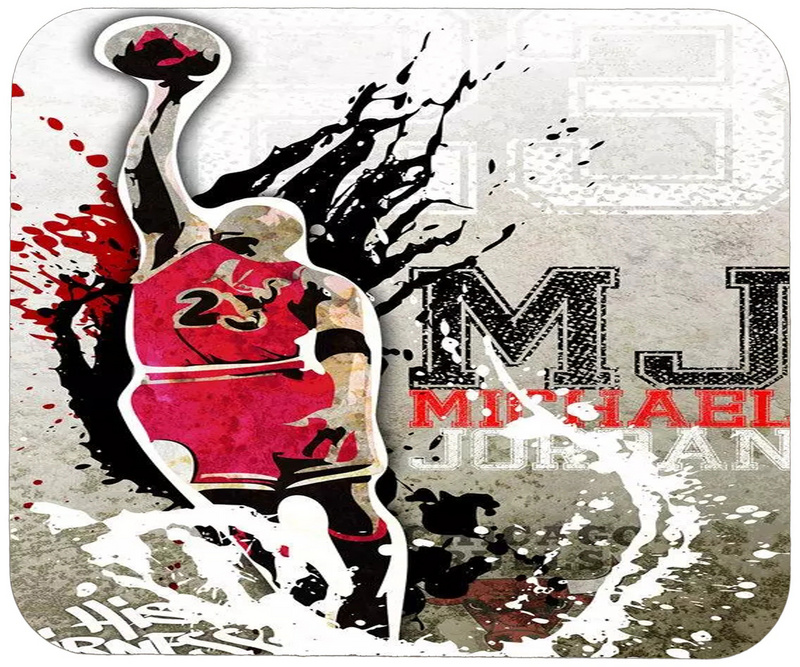 Michael Jordan Cartoon Logo Gaming/Office Mouse Pad