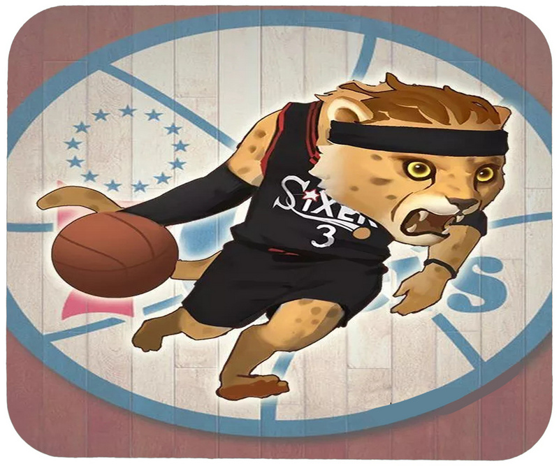 Sixers Cartoon Logo Gaming/Office Mouse Pad