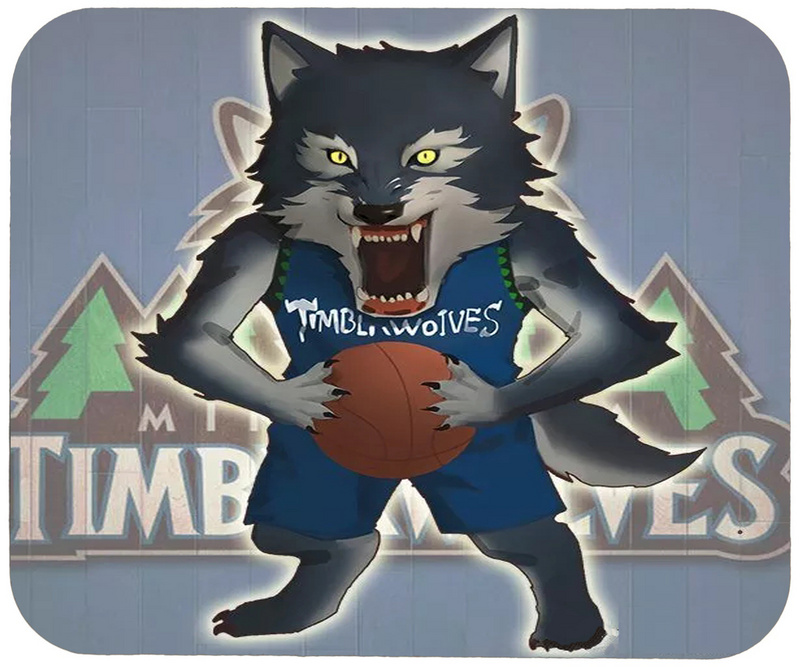 Timberwolves Cartoon Logo Gaming/Office Mouse Pad