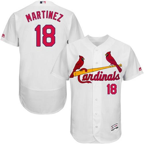 Cardinals 18 Carlos Martinez White Flexbase Jersey