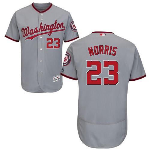 Nationals 23 Derek Norris Gray Flexbase Jersey