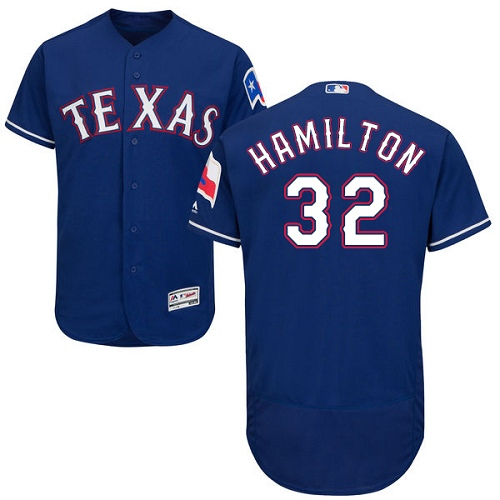 Rangers 32 Josh Hamilton Blue Flexbase Jersey