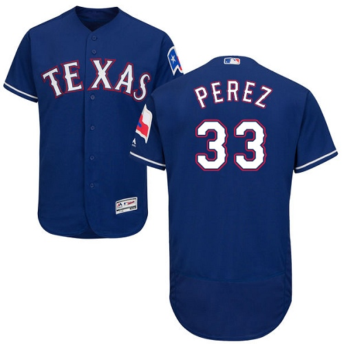 Rangers 33 Martin Perez Blue Flexbase Jersey