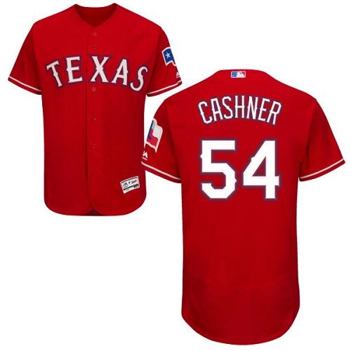 Rangers 54 Andrew Cashner Red Flexbase Jersey
