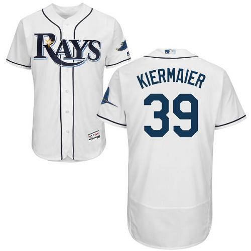 Rays 39 Kevin Kiermaier White Flexbase Jersey