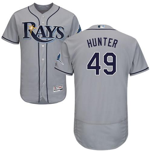Rays 49 Tommy Hunter Gray Flexbase Jersey