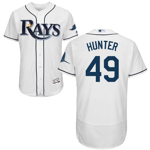 Rays 49 Tommy Hunter White Flexbase Jersey