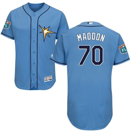 Rays 70 Joe Maddon Light Blue Flexbase Jersey