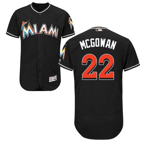 Marlins 22 Dustin McGowan Black Flexbase Jersey