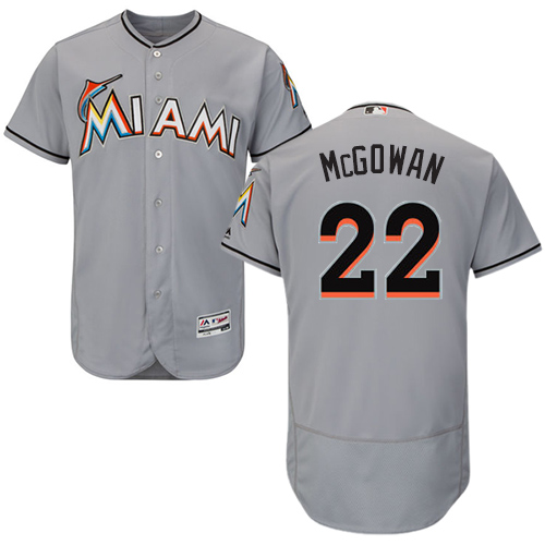 Marlins 22 Dustin McGowan Gray Flexbase Jersey