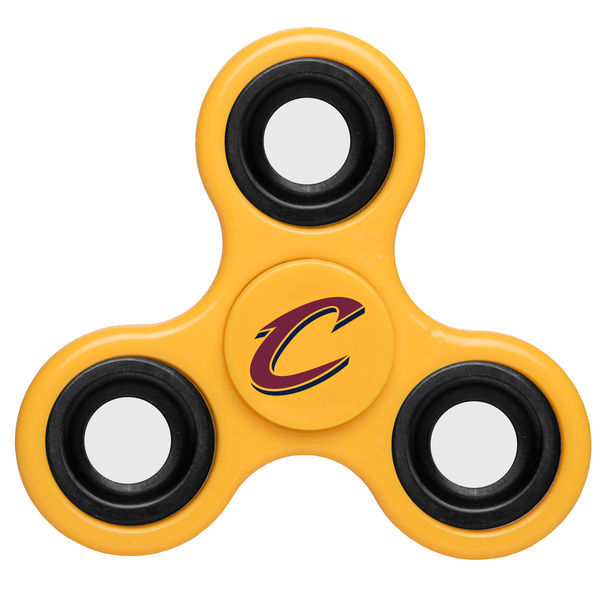 Cavaliers Team Logo Yellow Fidget Spinner