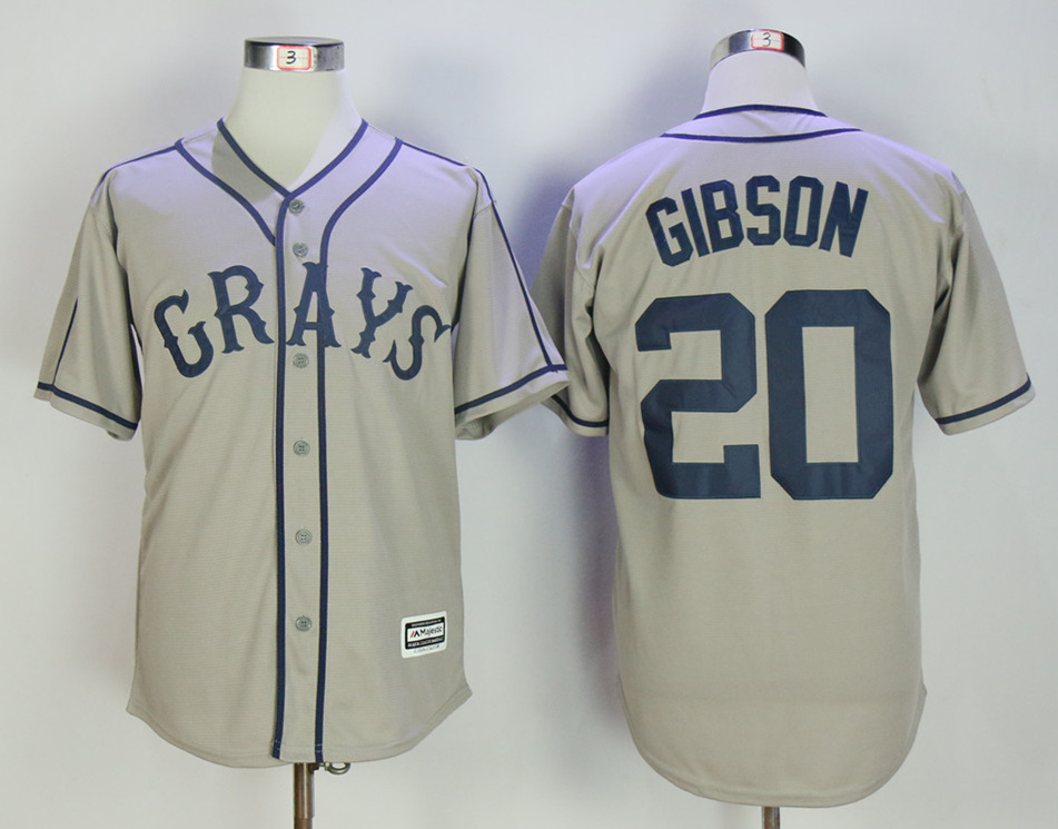 Homestead Grays 20 Josh Gibson Gray Cool Base Baseball Jersey