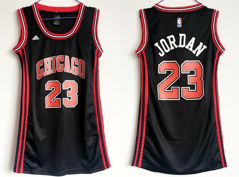 Bulls 23 Michael Jordan Black Women Swingman Jersey