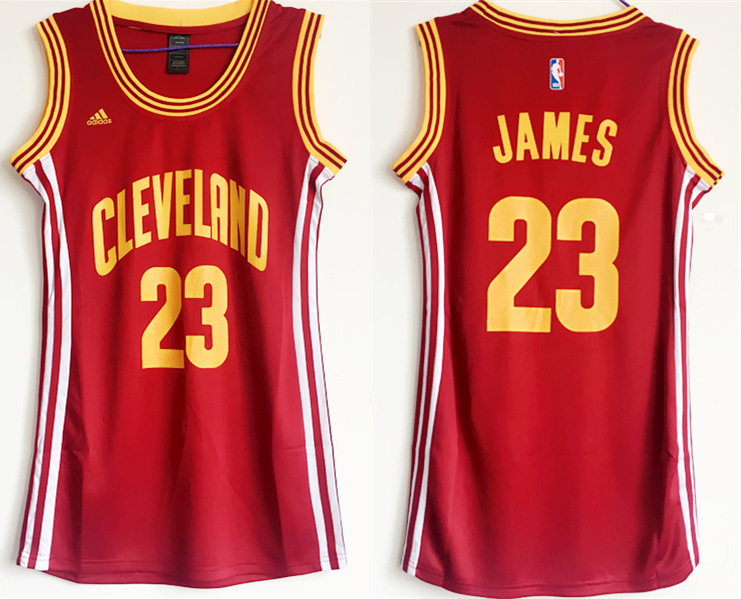 Cavaliers 23 Lebron James Red Women Swingman Jersey