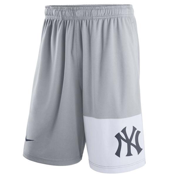 Men's New York Yankees Nike Gray Dry Fly Shorts