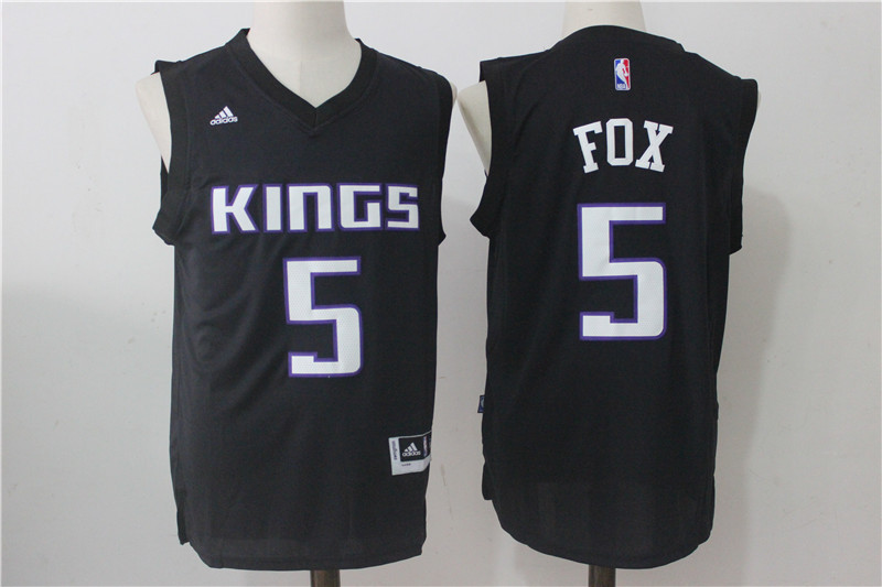 Kings 5 De'Aaron Fox Black Swingman Jersey