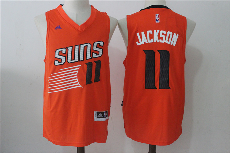 Suns 11 Josh Jackson Orange Swingman Jersey