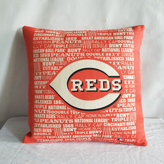 Cincinnati Reds Baseball Pillow