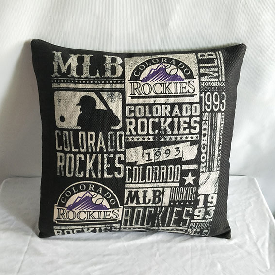 Colorado Rockies Baseball Pillow2