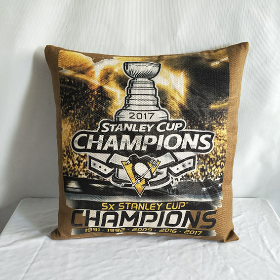 Pittsburgh Penguins 2017 Stanley Cup Champions Hockey Pillow
