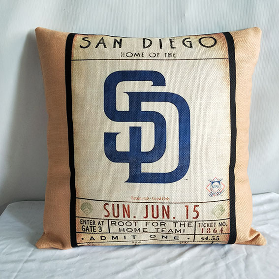 San Diego Padres Baseball Pillow