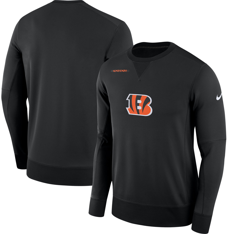 Men's Cincinnati Bengals Nike Black Sideline Team Logo Performance Sweatshirt
