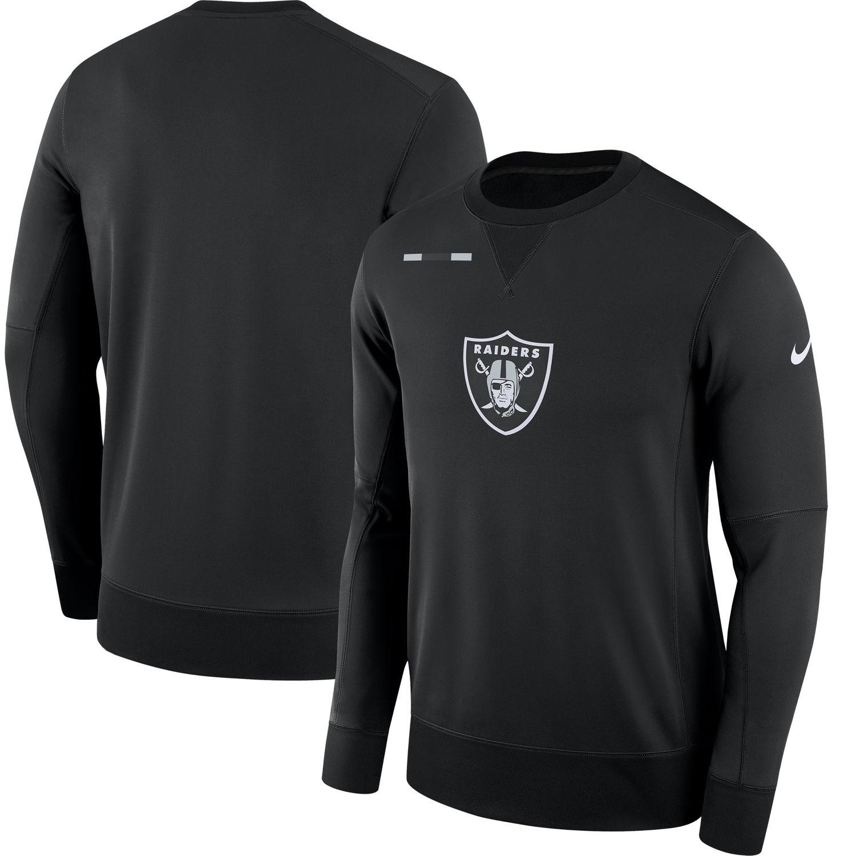 Men's Oakland Raiders Nike Black Sideline Team Logo Performance Sweatshirt