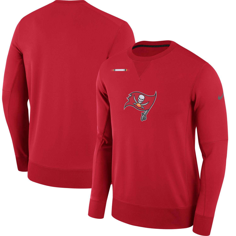 Men's Tampa Bay Buccaneers Nike Red Sideline Team Logo Performance Sweatshirt
