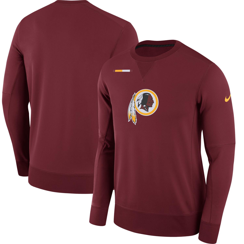 Men's Washington Redskins Nike Burgundy Sideline Team Logo Performance Sweatshirt