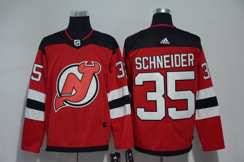 Devils 35 Cory Schneider Red Adidas Jersey