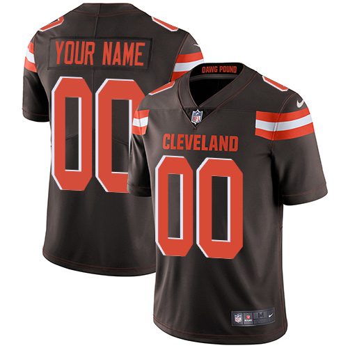 Nike Browns Brown Men's Customized Vapor Untouchable Player Limited Jersey