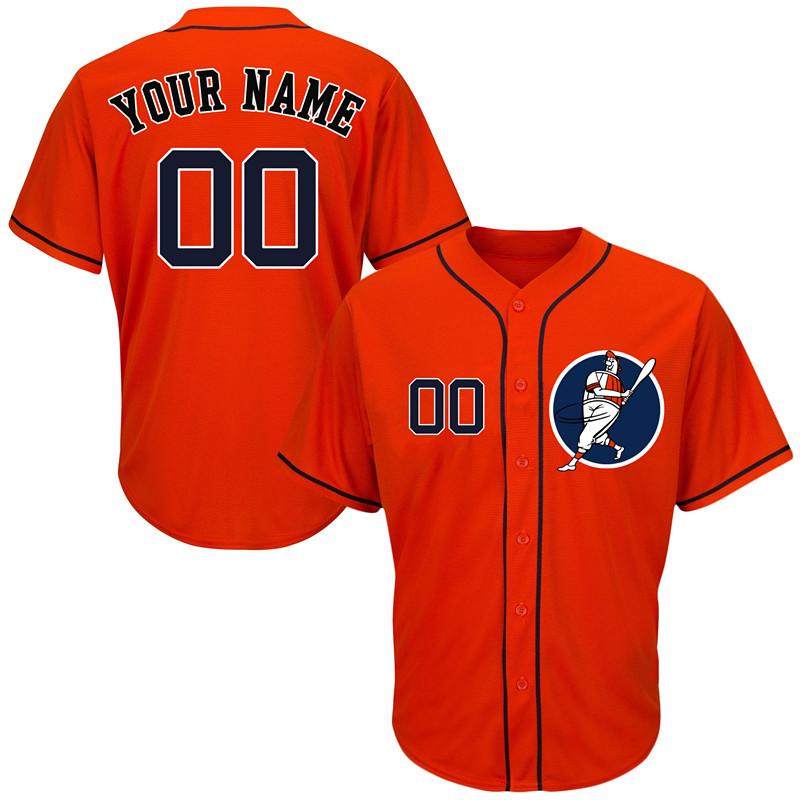 Astros Orange Men's Customized Cool Base New Design Jersey