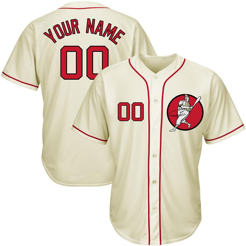 Nationals Cream Men's Customized New Design Jersey